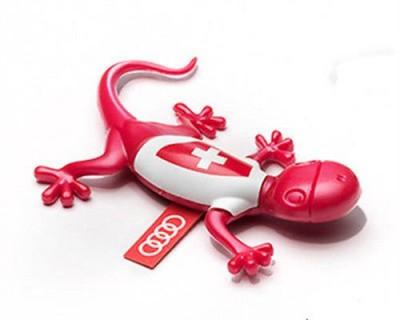 Audi Duftspender, Duftgecko rot, Duftnote blumig, Schweizer Trikot