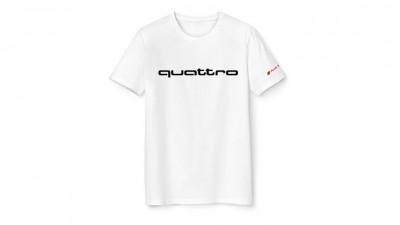 Audi T-Shirt, quattro Fanshirt, weiß
