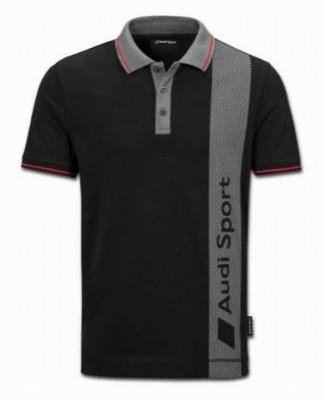 Poloshirt Audi Sport, schwarz/grau