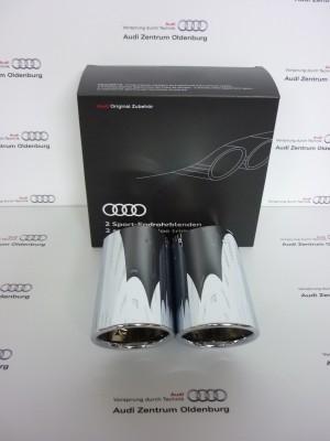 Audi Q2 Auspuffblenden silberchrom Endrohrblenden Q2