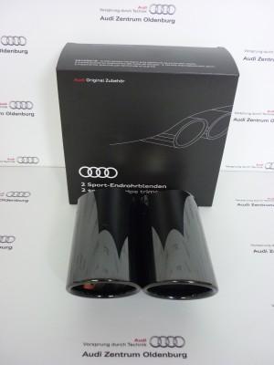 Audi Q2 Auspuffblenden schwarzchrom Endrohrblenden Q2