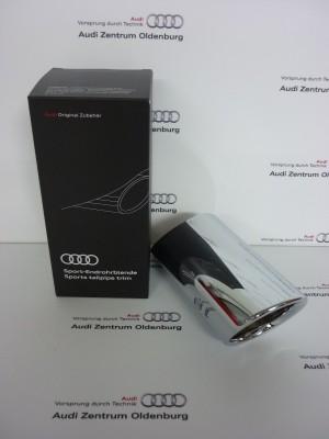 Audi Q2 Auspuffblende silberchrom Endrohrblende Q2