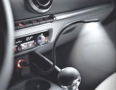 Audi LED Leselampe Schwanenhals für Zigarettenanzünder
