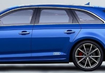 Audi Dekorfolie Audi Ringe florettsilber Aufkleber Audi Ringe 2xStk