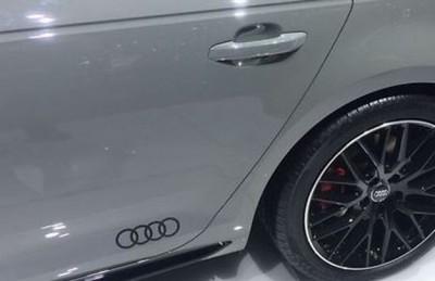 Audi Dekorfolie Audi Ringe brillantschwarz Aufkleber Audi Ringe 2xStk