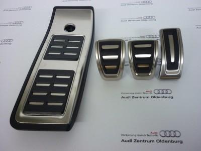 Audi Pedalkappen- Set aus Edelstahl für Schaltgetriebe, Audi A4 8W/ B9