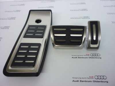 Audi Pedalkappen- Set aus Edelstahl für S-tronic, Audi A4 8W/ B9