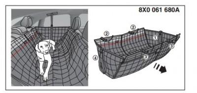 Fondschutzdecke Audi Design, Hundeschutzdecke