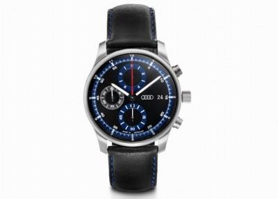Audi Chronograph schwarz/blau