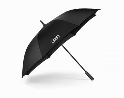 Audi Regenschirm, Stockschirm Audi, schwarz