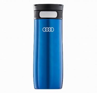 Audi Trinkbecher Edelstahl, blau