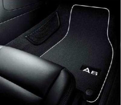 Original Audi A6 Fußmatten (4F), Premium Textilmatten mit Schriftzug