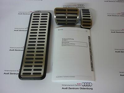Original Audi A1 Pedalkappen im Satz inkl. Fußstütze, für Automatik Bj.2011-2014