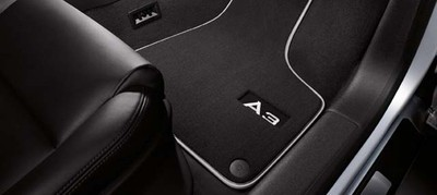 Audi A3 Fußmatten, Premium Textilfußmatten aus Velours, A3 Modell 8P