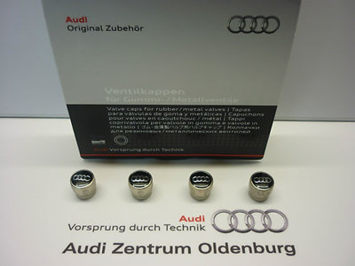 original audi ventilkappen kappen f r ventile neu ovp r der reifen zubeh r shop audi. Black Bedroom Furniture Sets. Home Design Ideas