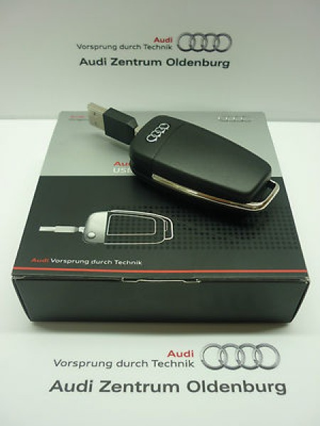 audi usb memory key audi usb stick 8gb als fahrzeugschl ssel schl sselanh nger. Black Bedroom Furniture Sets. Home Design Ideas