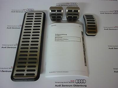 Original Audi A1 Pedalkappen im Satz inkl. Fußstütze, Bj.2011-2014