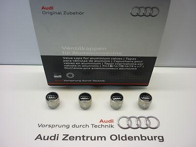 Original Audi Ventilkappen, Kappen für Aluminiumventile, ---NEU/OVP---