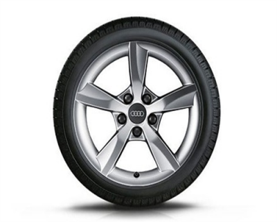 Winterkomplettradsatz Audi A3, 5-Arm-Rotor-Design 16 Zoll