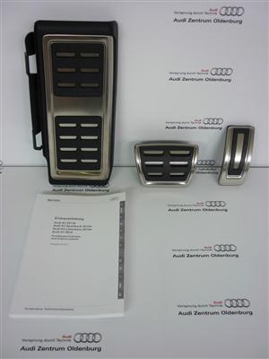Audi Q2 Edelstahl Pedalkappen, für Automatik/ S-tronic