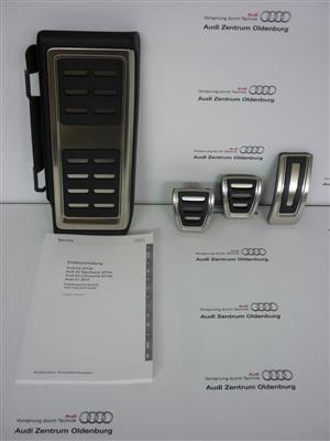 Audi TT Edelstahl Pedalkappen, für Schaltgetriebe, ab Modelljahr 2015
