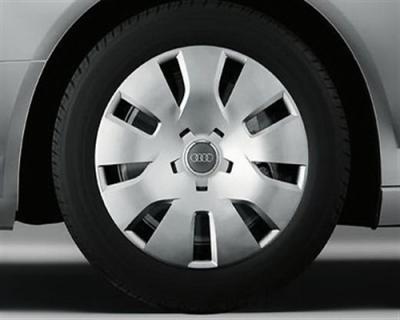 Winterkomplettradsatz Audi A4, Modell 8K/B8, Stahlfelge mir Radkappe