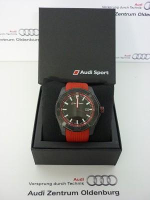 Audi Sport Uhr, rot/schwarz