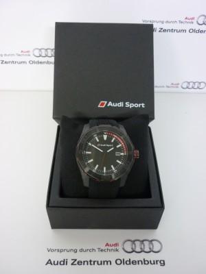 Audi Sport Uhr, schwarz