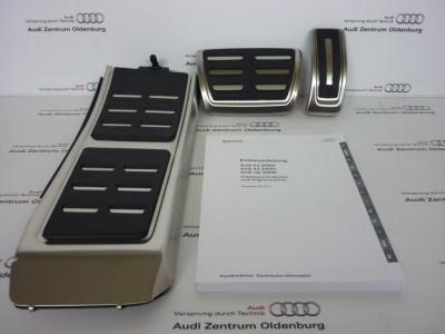 Audi Pedalkappen- Set Audi A4, Audi A5, Audi Q5 ab Mj. 2008, S-tronik/Automatik