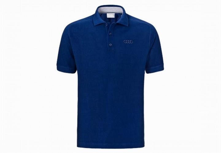 audi poloshirt polo shirt blau bekleidung shop. Black Bedroom Furniture Sets. Home Design Ideas