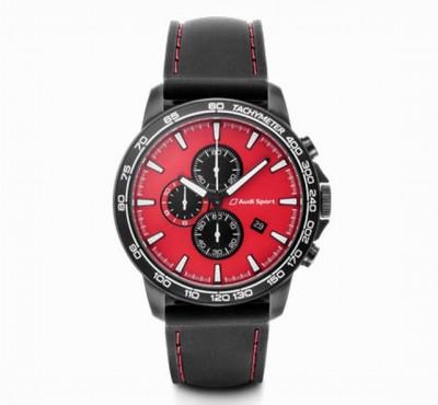 ---PREISKNALLER---Audi Chronograph rot/schwarz, Audi Sport Uhr