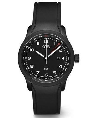 Audi Dreizeigeruhr GMT Blackline