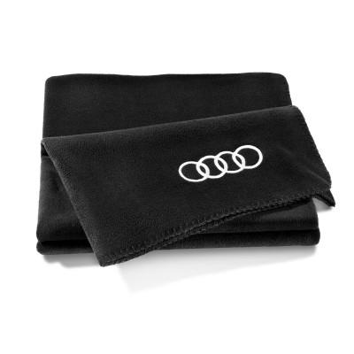 Audi Fleecedecke, schwarz 180x130cm, Audi Decke