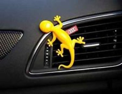 Audi Duftspender, Duftgecko gelb, Duftnote tropische Früchte