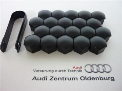 Audi Radschraubenkappen inkl. Abzieher in schwarz