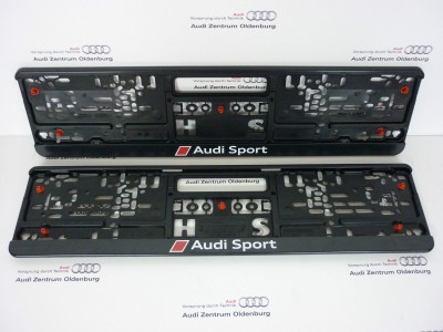 Audi Kennzeichenhalter Audi Sport (2 Stk.)