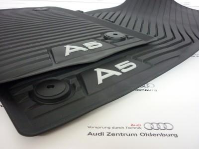 Audi A5 Gummimatten für Coupe+Cabrio, vorne ab Bj.16