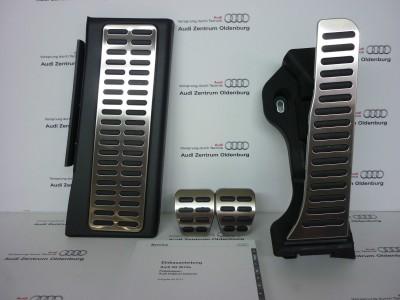 Audi Q3 Pedalkappen Set Edelstahl für Schaltgetriebe