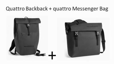Audi quattro Taschenset, Audi Rucksack und Messenger Bag Audi quattro