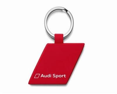 Audi Sport Schlüsselanhänger, Metall Raute