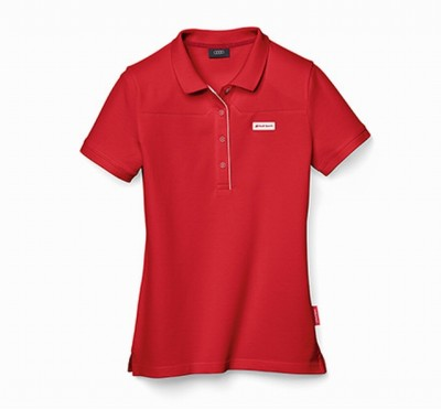 Original Audi Poloshirt für Damen, Audi Sport Polo- Shirt, rot