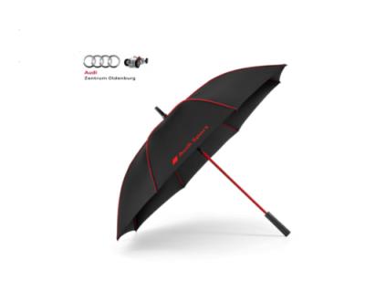 Audi Sport Stockschirm/ Regenschirm schwarz/rot