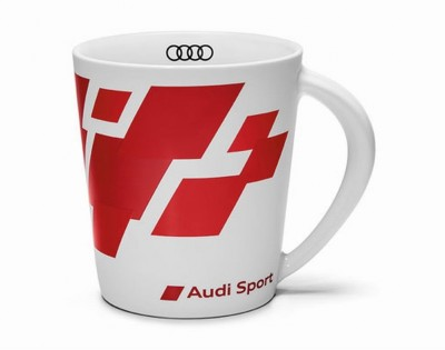 Audi Tasse rot/weiß matt Audi Sport 400ml