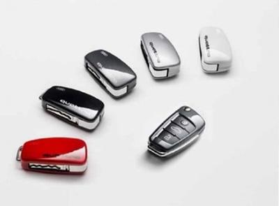 Audi Schlüsselblende quattro, lackiert in verschiedenen Farben