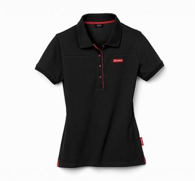 Original Audi Poloshirt für Damen, Audi Sport Polo- Shirt, schwarz