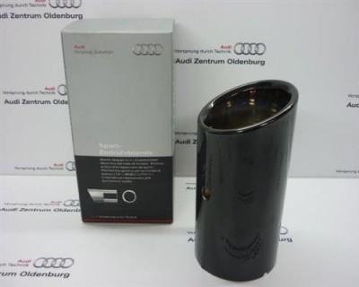 Audi A1 /A3 Endrohrblende/Auspuffblende, schwarz/chrom, 8P0071771B