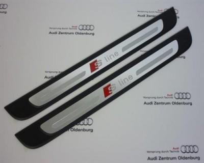 Audi A1 Einstiegsleisten, 2-teilig, Aluminium Ziereinlage Sline