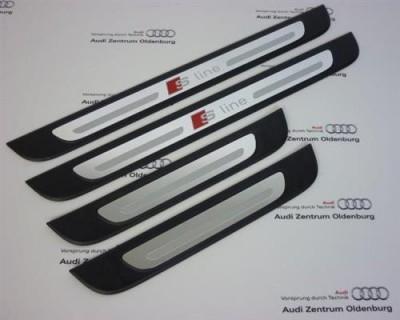 Audi Q2 Einstiegsleisten, 4-teilig, Aluminium Ziereinlage Sline