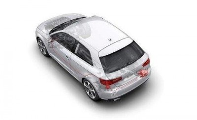 Motorsoundsystem Audi A3, Abgassoundanlage
