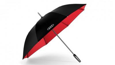 Audi Stockschirm/ Regenschirm Premium, schwarz/rot